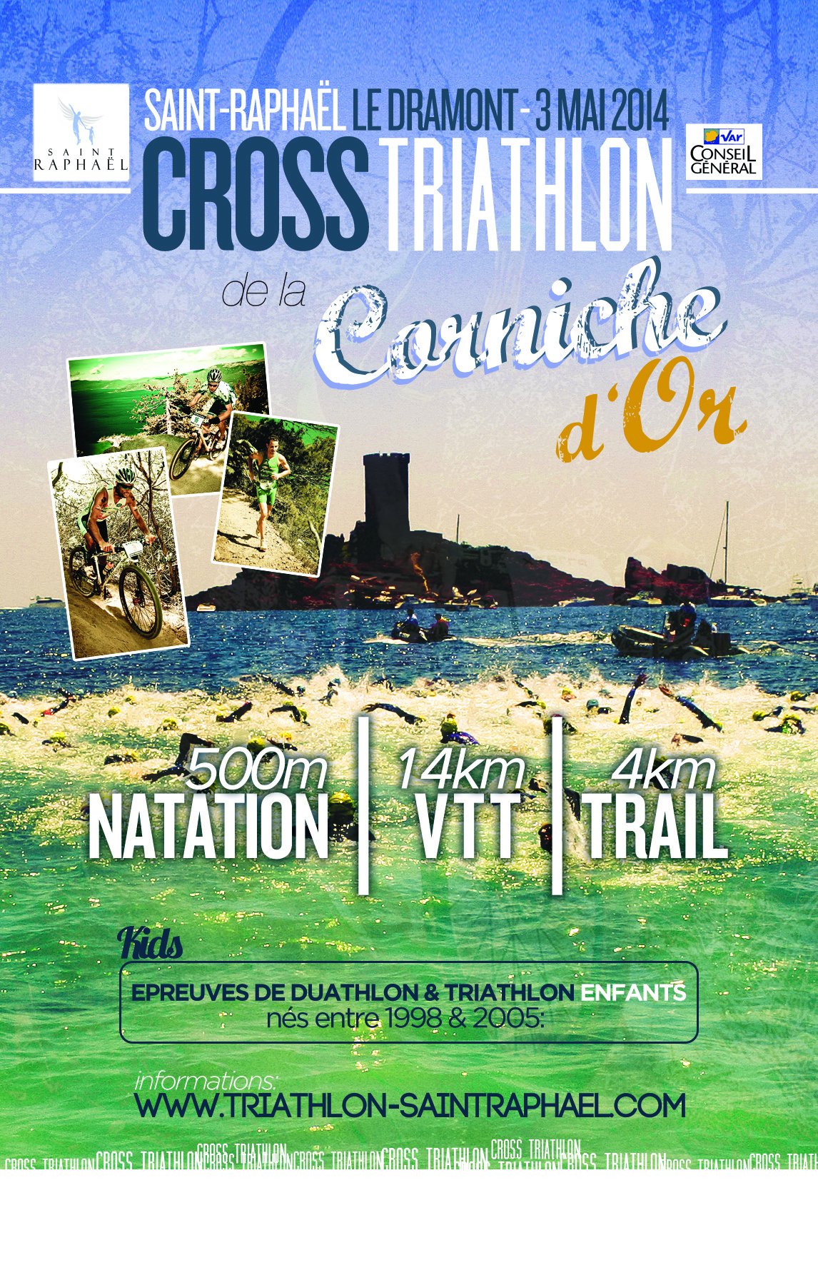 Rendez-vous le 3 mai au Cross triathlon de la Corniche d'Or‏