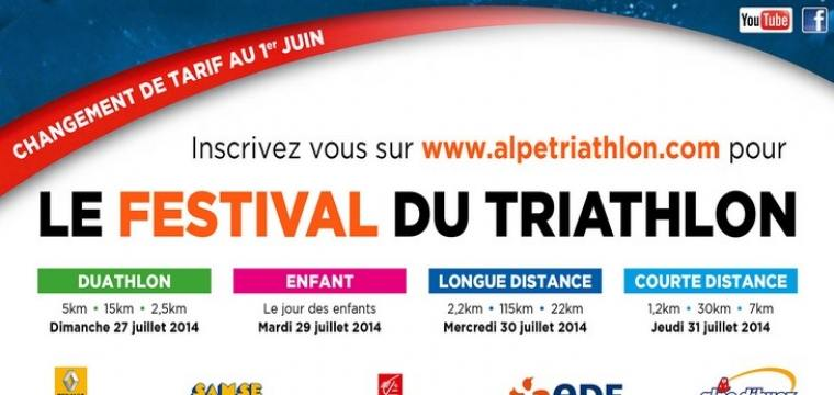 9ème édition du Triathlon de l'Alpe d'Huez: Attention changement de tarif imminent !!!