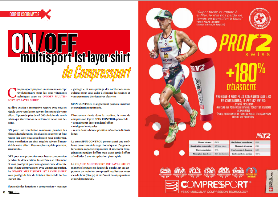 A découvrir dans TrimaX#138 : ON /OFF multisport 1st layer shirt de Compressport