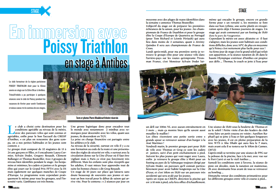 Une immersion avec Poissy Triathlon en stage à Antibes pour TrimaX#138