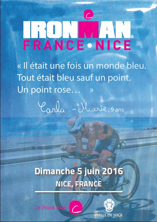IRONMAN FRANCE NICE : 10 dossards solidaires pour Le Point rose‏