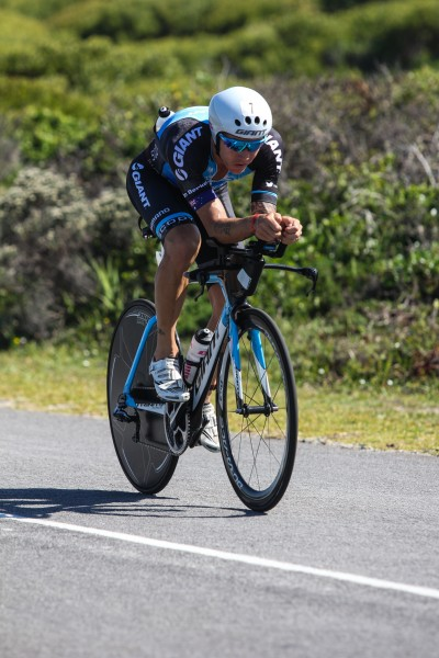 """PORT ELIZABETH, SOUTH AFRICA - APRIL 10: In this handout image provided by Ironman Tim van Berkel in action during the Standard Bank IRONMAN African Championship at Nelson Mandela Bay, Port Elizabeth on April 10th, 2016 in Port Elizabeth, South Africa. (Photo by Craig Muller/IRONMAN via Getty Images)"""