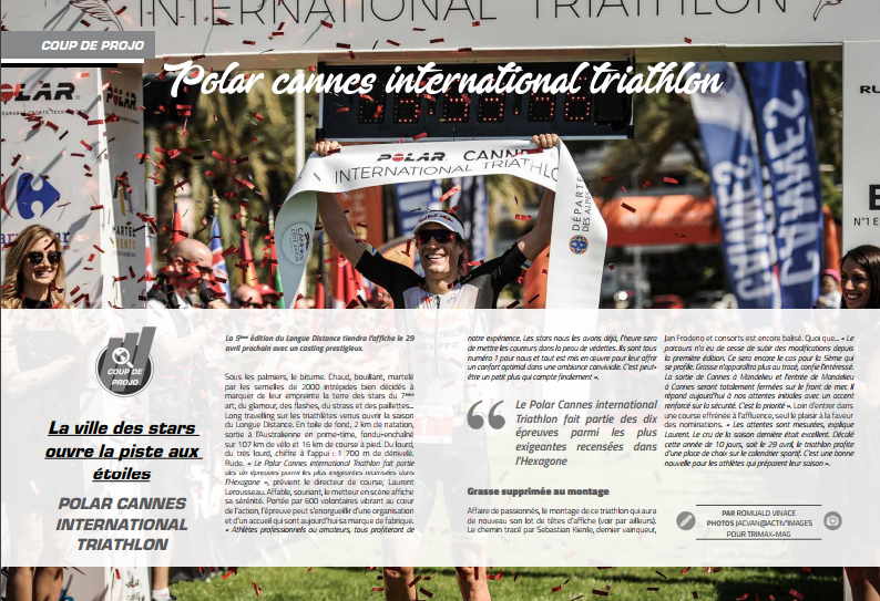 A lire dans TrimaX#171 le coup de projo sur Polar Cannes International Triathlon