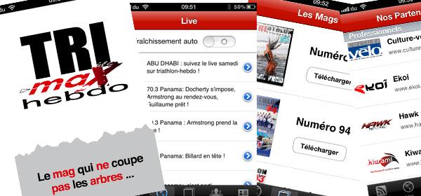 Pensez à télécharger l'appli iPhone TRIMAX-HEBDO