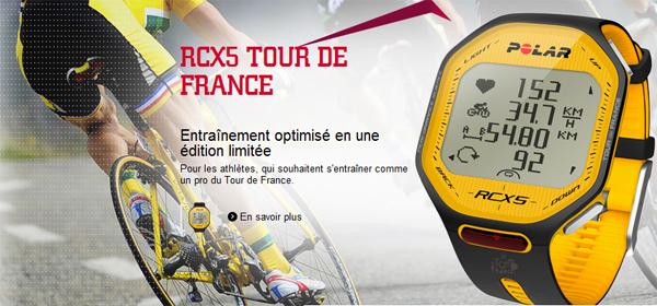 JEU CONCOURS : une montre POLAR RCX5 Tour de France à gagner