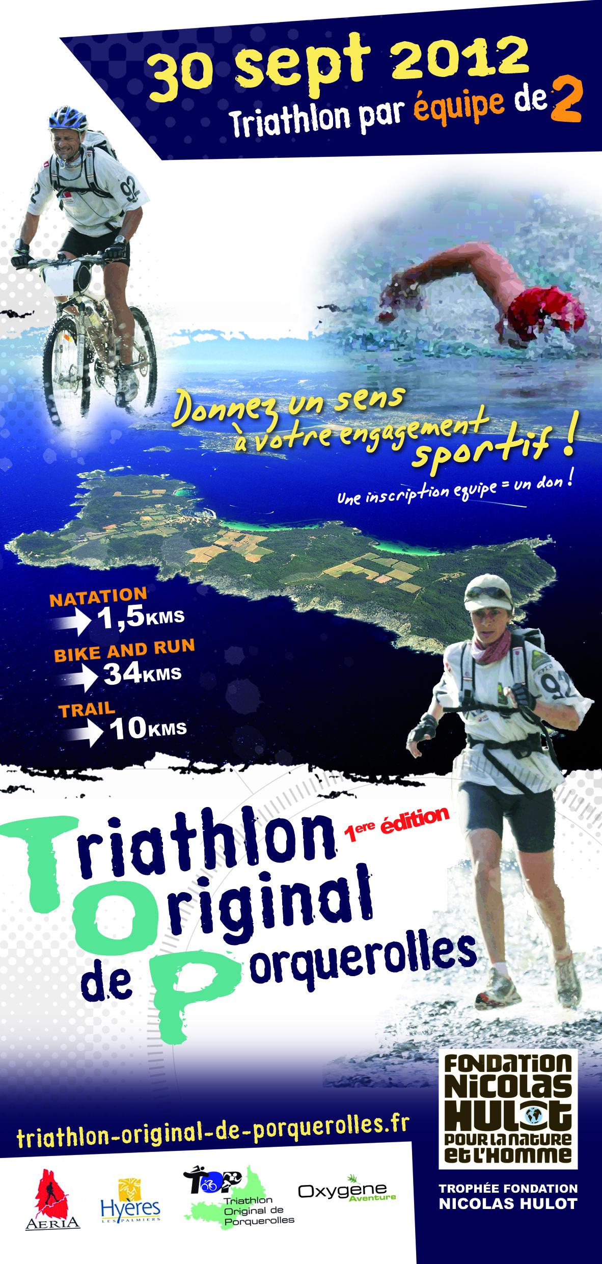 Triathlon par équipe de Porquerolles : tarif réduit grâce à TrimaX-hebdo