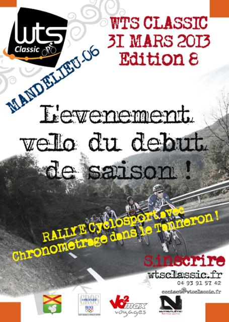 La WTS Classic «Vélo» dimanche 31 Mars 2013 sur la Côte d'Azur