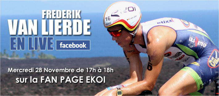 Frederik Van Lierde vous donne rendez-vous sur facebook