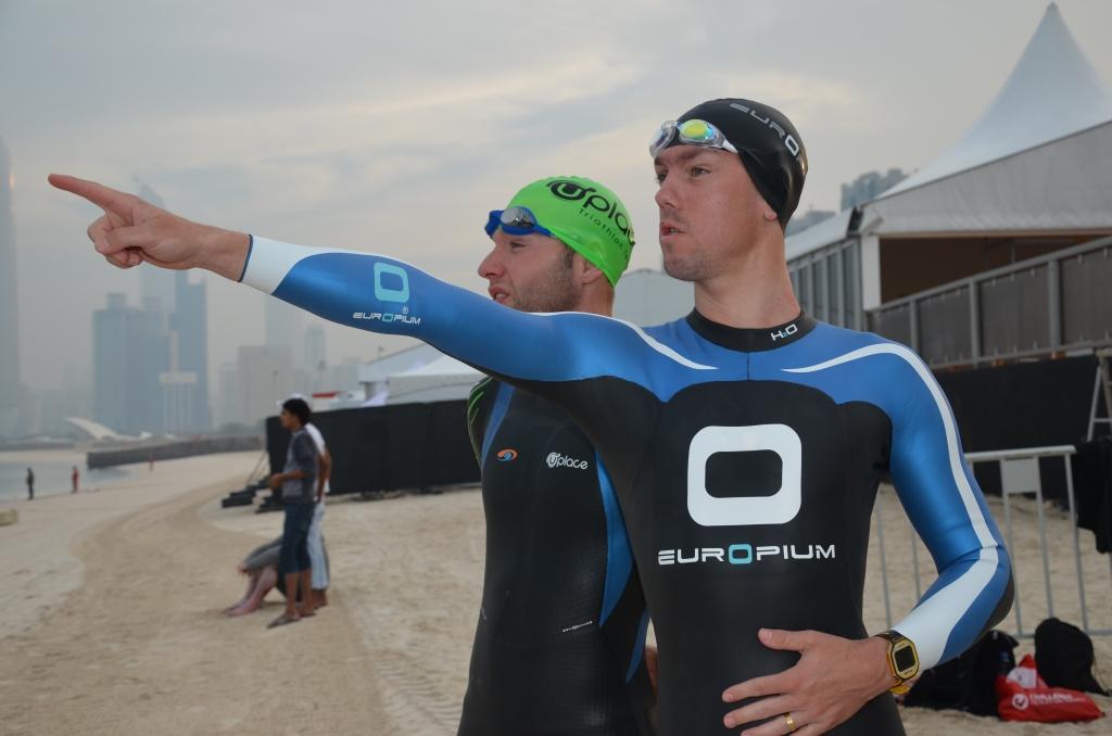 Abu Dhabi 2013 : petite séance natation avec quelques pros