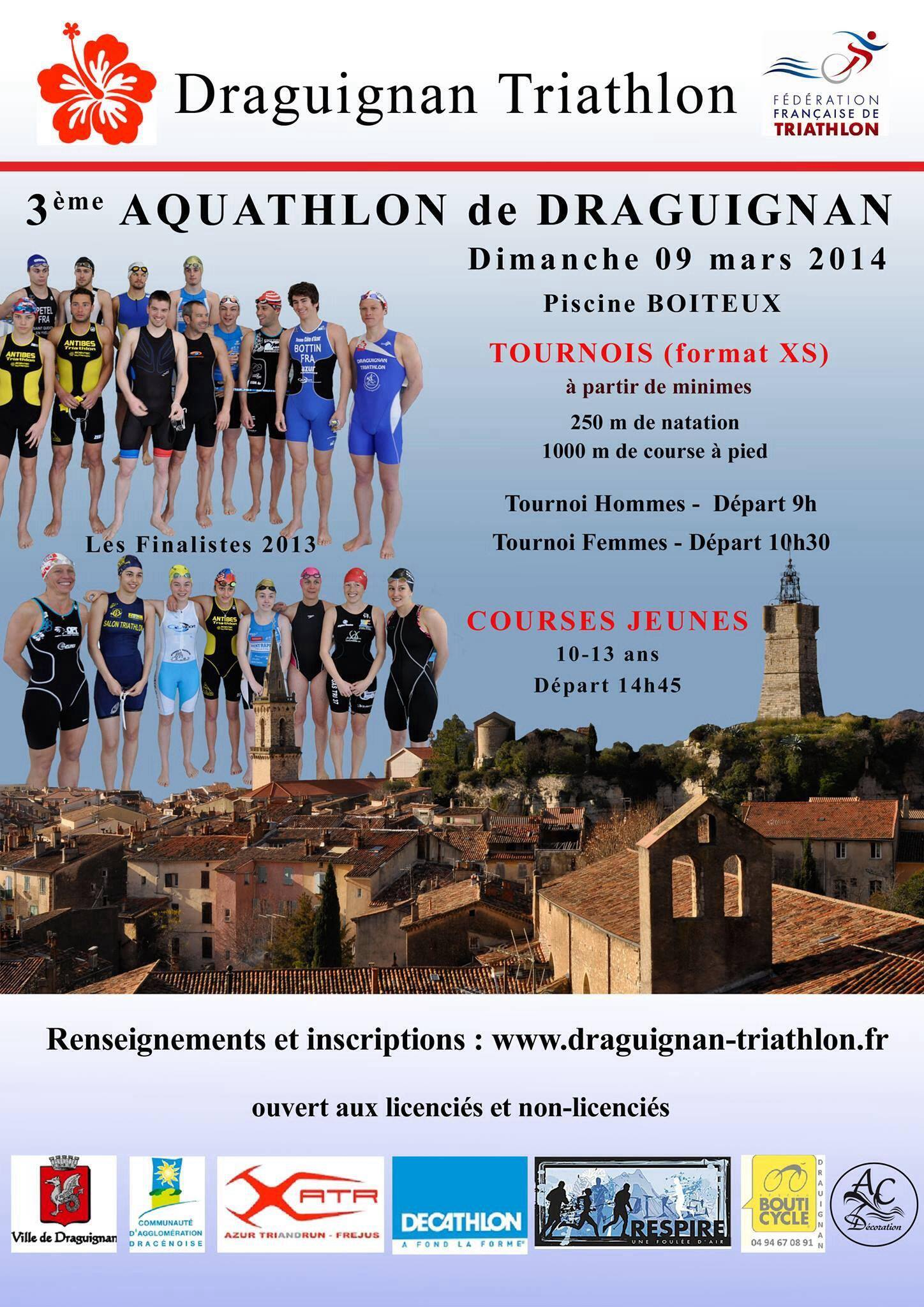 Aquathlon Draguignan: Dimanche tout est prêt pour la fête !