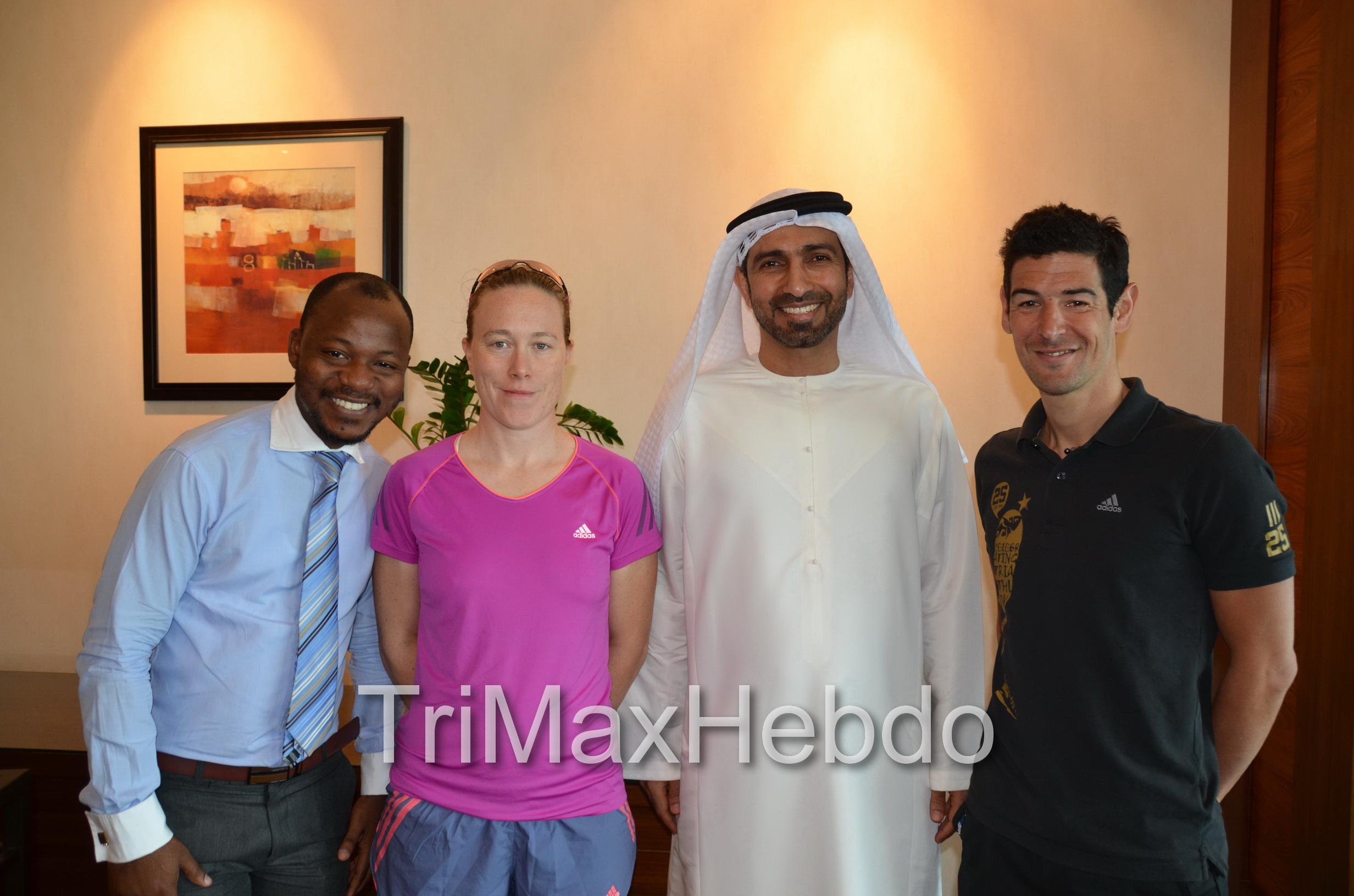 Abu Dhabi Triathlon: Interview Tony et Jessica