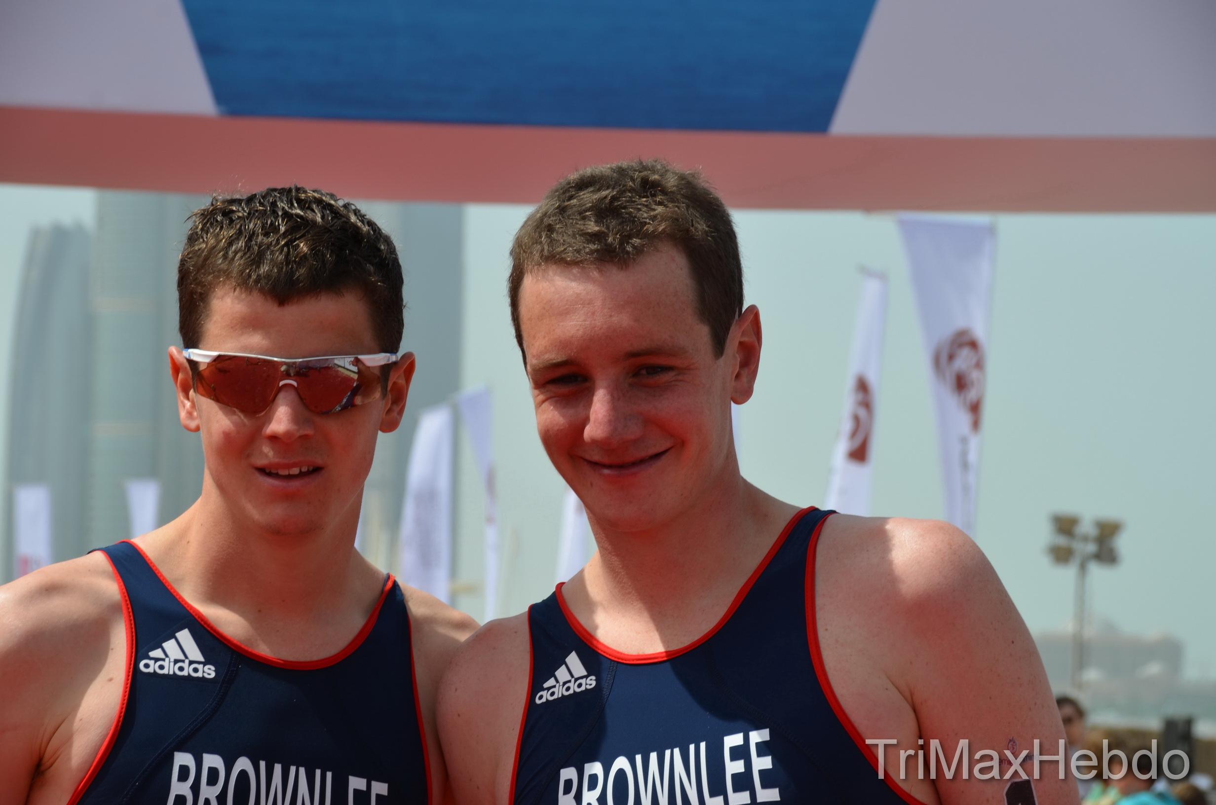 Les frères Bronwlee en promenade à Abu Dhabi…