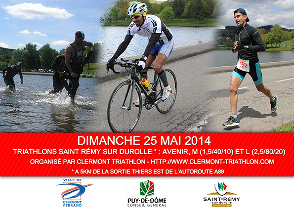 25 mai : Participez au Triathlon de Saint Rémy-sur-Durolle