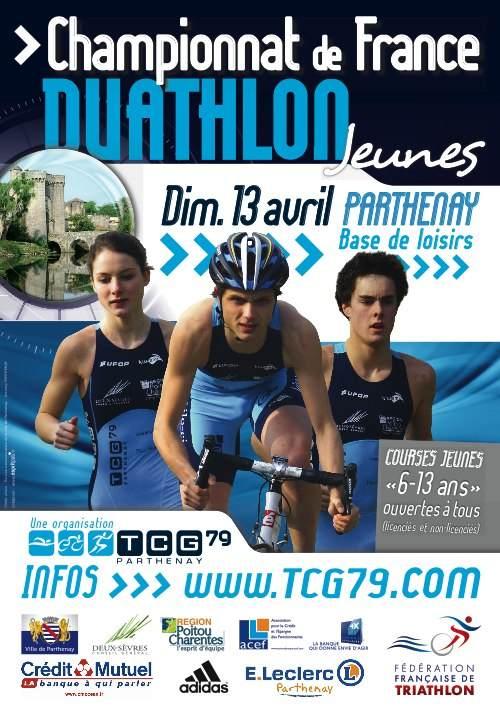 Championnat de France de Duathlon Jeunes à Parthenay