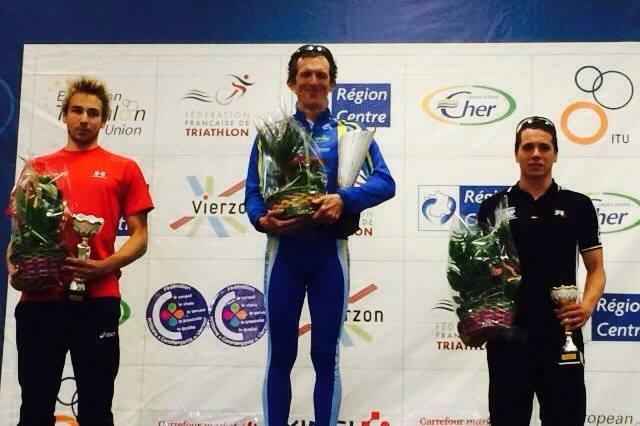 Victoire de Yohann Vincent au triathlon de Vierzon.