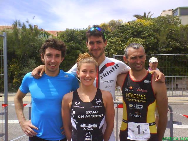Triathlon S de Sausset: Billard et Bottin en forme !