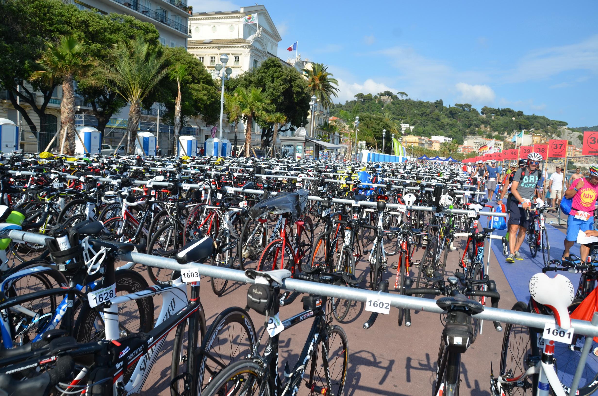 IM France : Dépôt des vélos