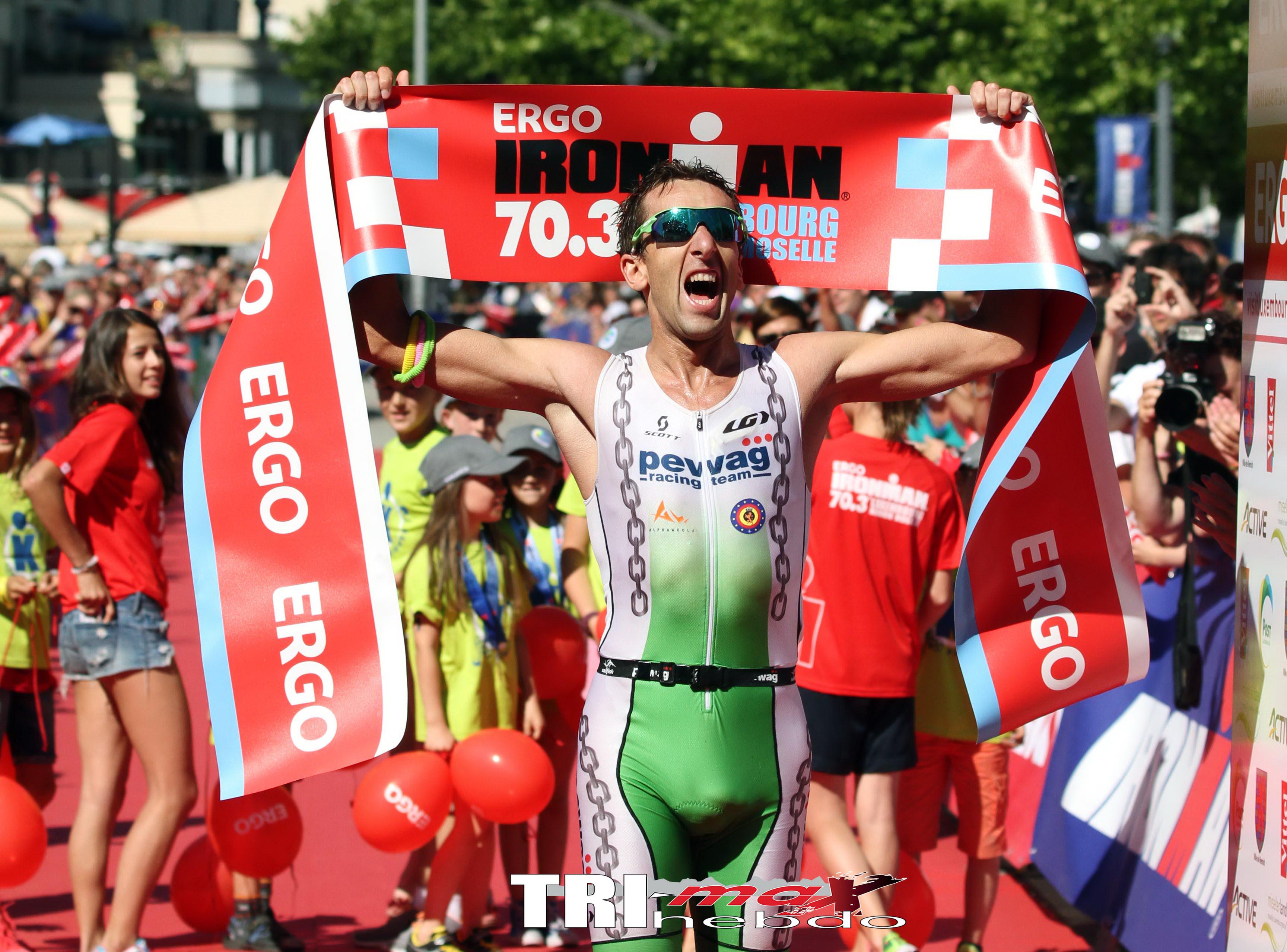 70.3 Luxembourg : Vanhoenacker renoue avec la victoire, Romain Guillaume 5e
