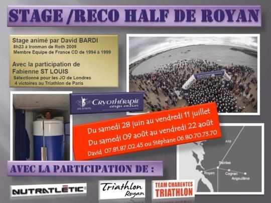 Stage et reconnaissance du Half de Royan