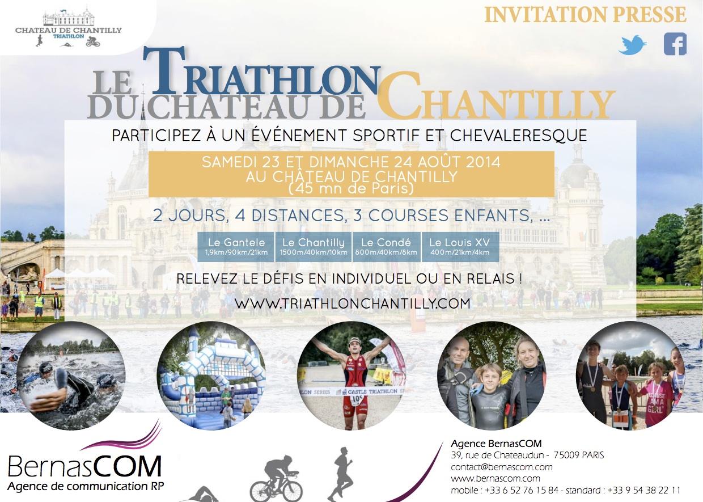 Relevez le défi du Triathlon de Chantilly le 23 et 24 août !