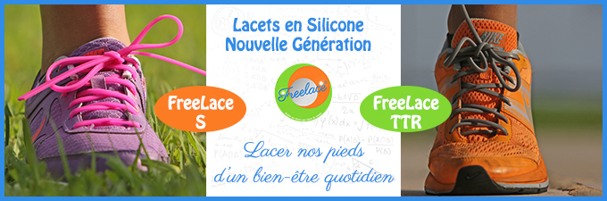 Freelace : Lacets Silicone nouvelle génération