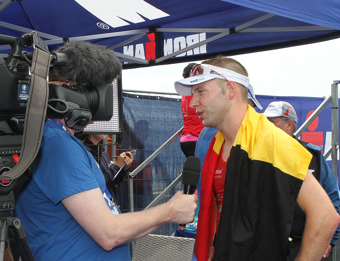 Bart Aernouts remporte les championnats d'Europe de 70.3 à Wiesbaden