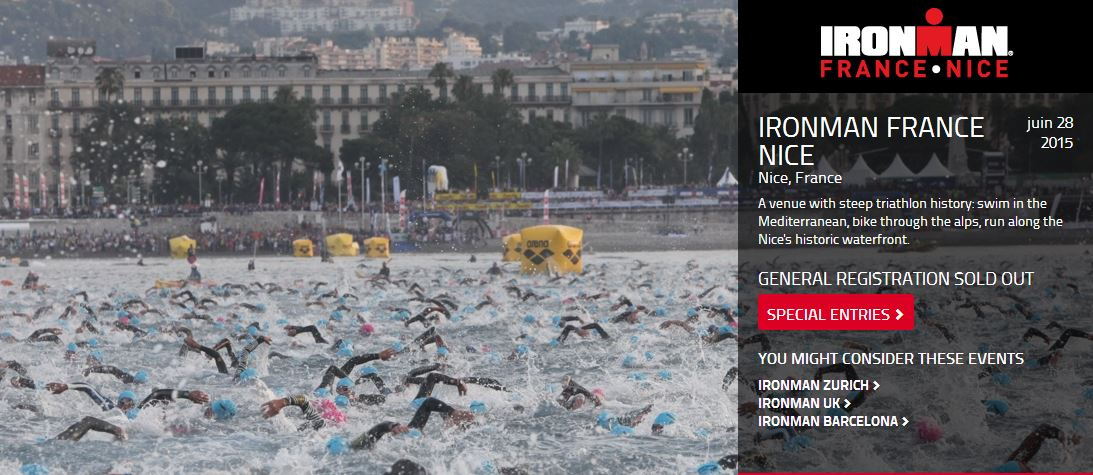 IRONMAN France Nice : SOLD OUT!