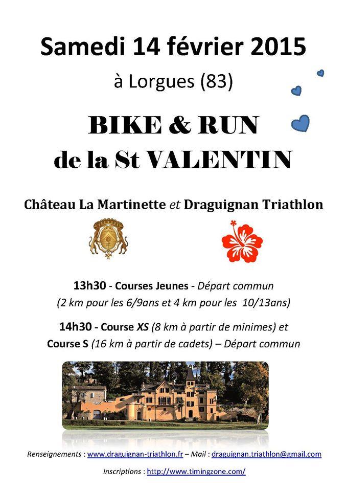 Pour la St Valentin offrez vous un Bike and Run en amoureux !