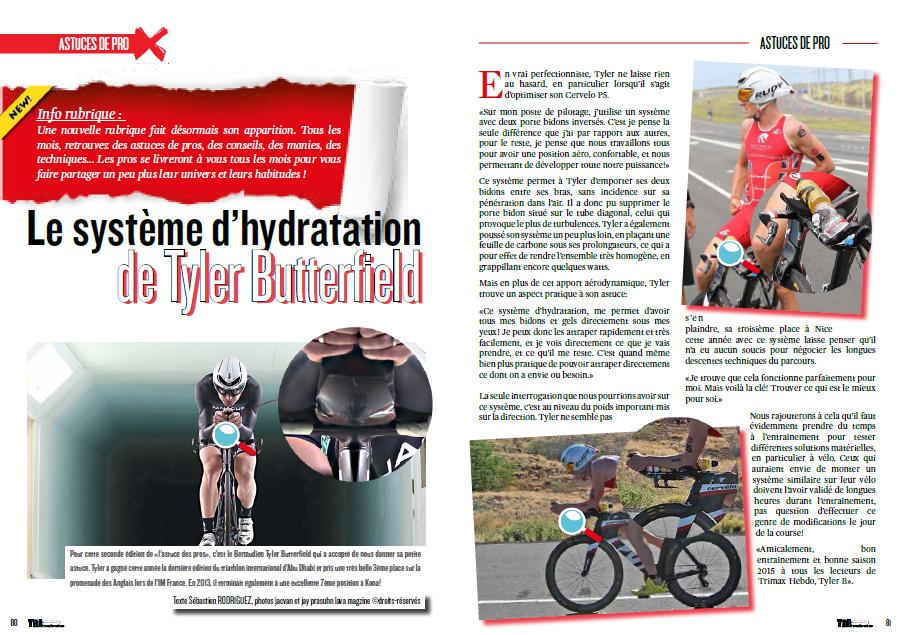 Découvrez dans TrimaX#137 le système d'hydratation de Tyler Butterfield
