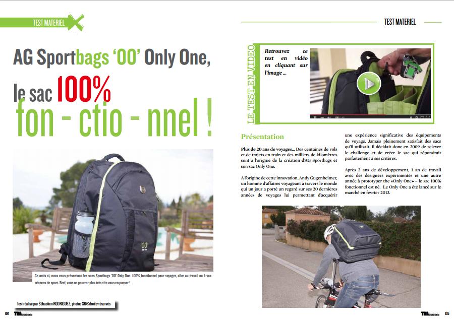 Découvrez dans TrimaX#138 le sac «OO» 100% fonctionnel d'AG Sportbags…