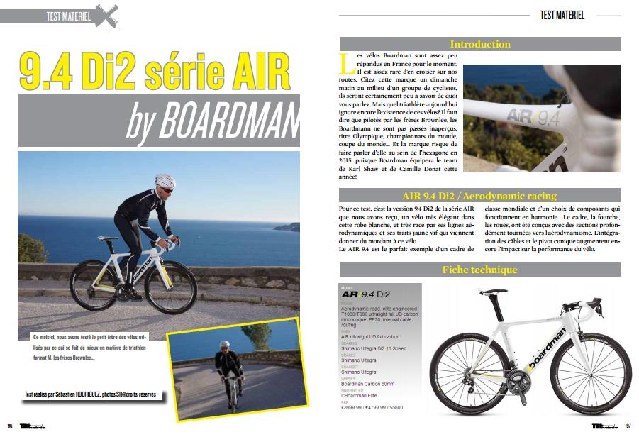 Découvrez dans TrimaX#138 le 9.4 Di2 série AIR by BOARDMAN