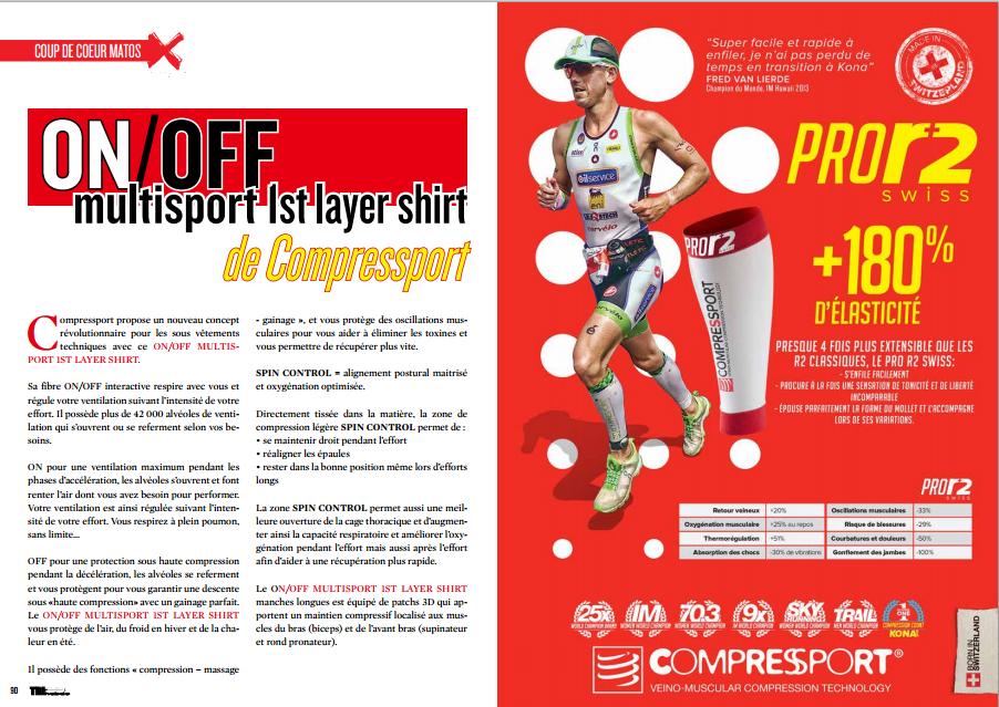 A découvrir dans TrimaX#138 : ON /OFF multisport 1st layer shirt de Compressport