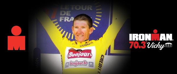 Un ancien maillot jaune du Tour de France sur l'IRONMAN 70.3 Vichy