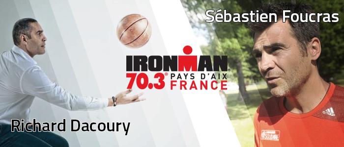 Un basketteur et un skieur à l'IRONMAN 70.3 Pays d'Aix