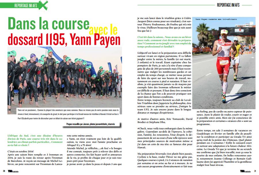 A lire dans TrimaX#139 : IM Afrique du Sud, dans la course avec Yann Payen