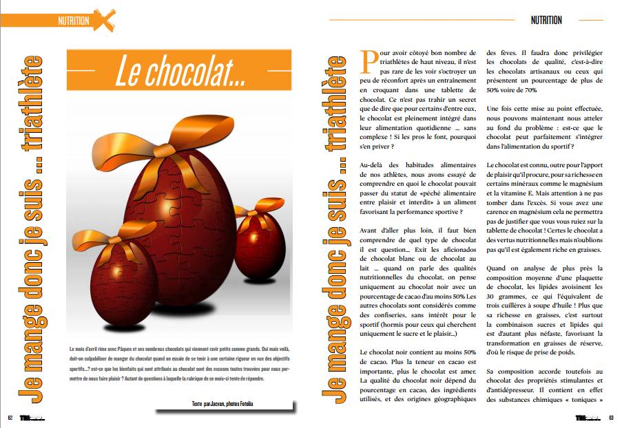 A découvrir dans TrimaX#139 dans la rubrique nutrition : le chocolat…