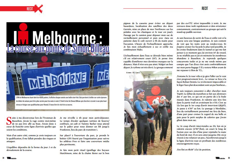 Dans TrimaX#139 Simon Billeau nous livre le récit de sa course lors de l'IM Melbourne