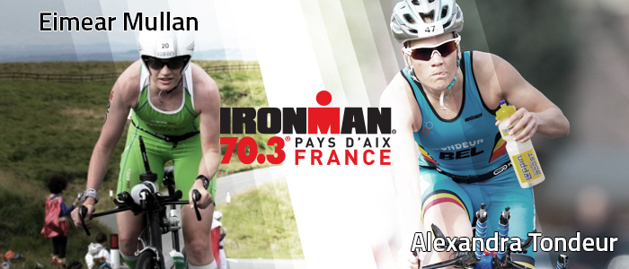 Emeiar Mullan et Alexandra Tondeur à l'IRONMAN 70.3 Pays d'Aix