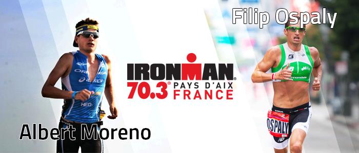 Albert Moreno et Filip Ospaly au départ de l'IRONMAN 70.3 Pays d'Aix