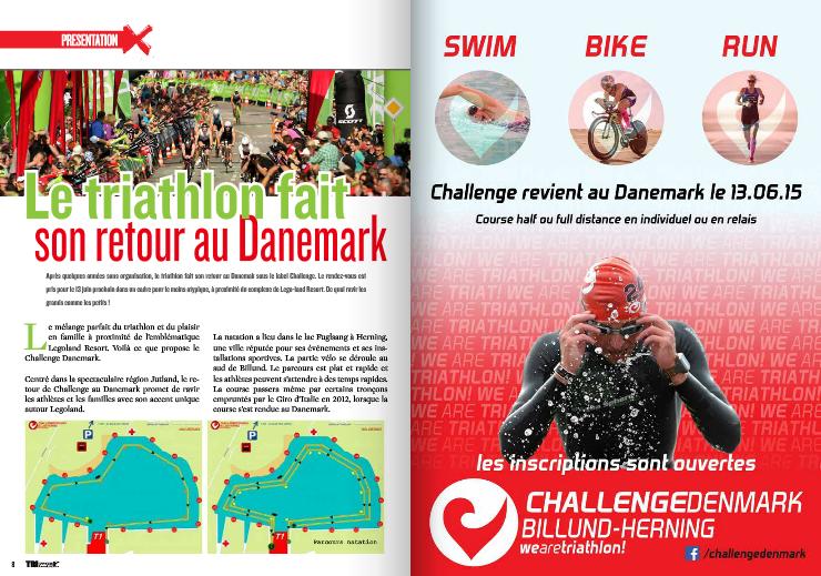 Le triathlon fait son retour au Danemark, à lire dans TrimaX#140