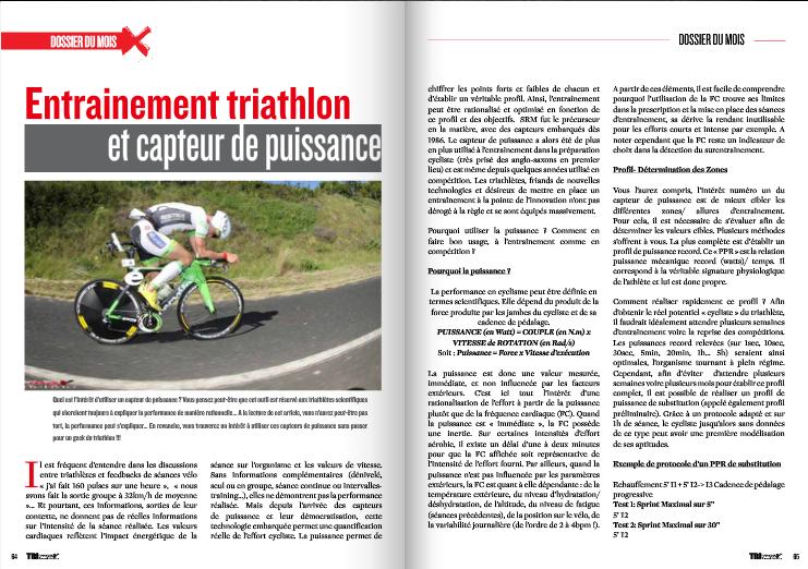A lire dans TrimaX#140 : Entrainement triathlon et capteur de puissance