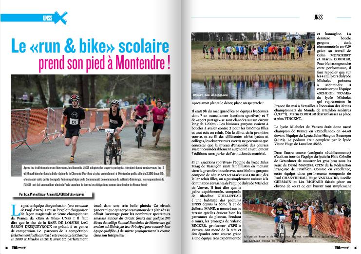 A lire dans TrimaX#140 : Le «run & bike» scolaire prend son pied à Montendre !