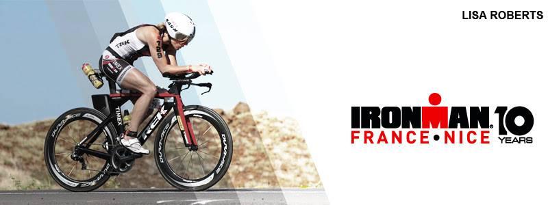 Lisa Roberts, 3ème et 4ème à l'IRONMAN France-Nice (2013 & 2014) au départ des 10 ans.