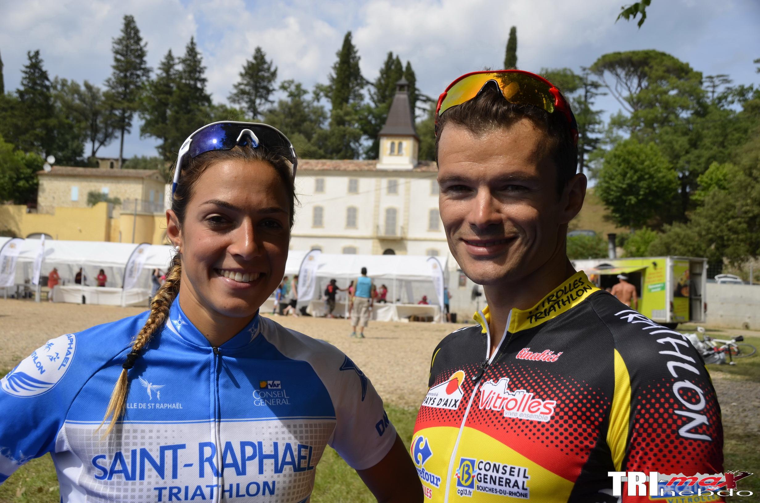 Victoire de Frédéric Belaubre et Charlotte Morel au triathlon M du Château de la Martinette