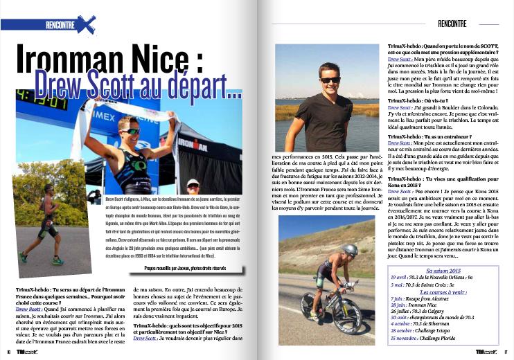 A découvrir dans TrimaX#141 Drew Scott au départ de l'Ironman Nice