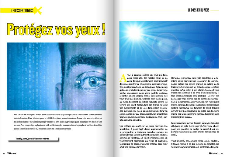 A lire dans TrimaX#141 : Protégez vos yeux !