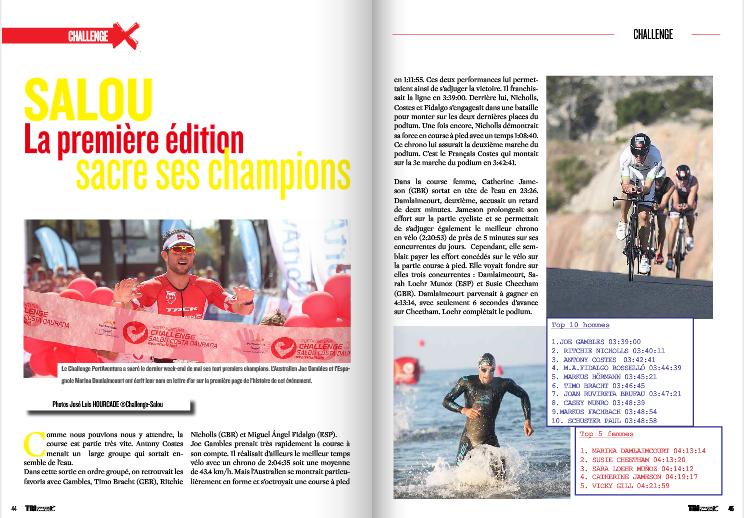 A lire dans TrimaX#141 : Salou la première édition sacre ses champions