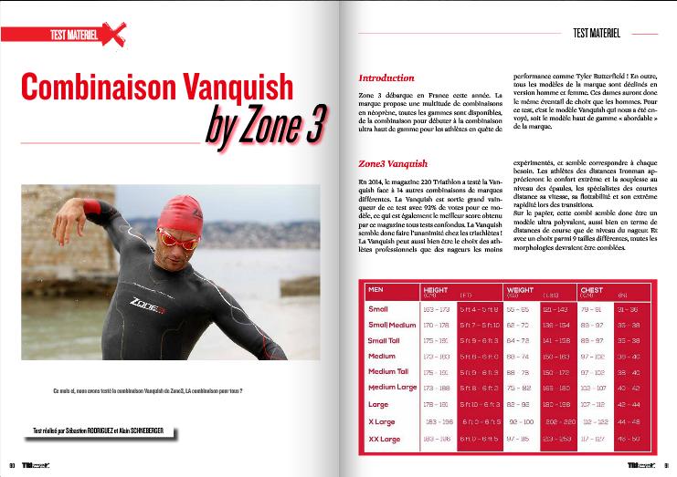 A découvrir dans TrimaX#141 la combinaison Vanquish by Zone 3
