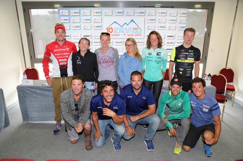 Triathlon EDF Alpe d'Huez : conférence de presse