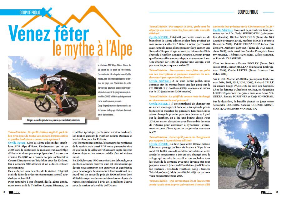 TrimaX#142 vous invite à  fêter le mythe à l'Alpe